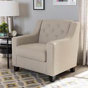 Baxton Studio Arcadia Chair - Light Beige