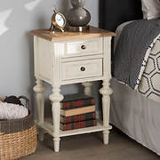 Baxton Studio Venezia 2-Drawer Nightstand - Whitewash