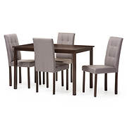 Baxton Studio Andrew 5-Pc. Dining Set - Gray