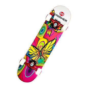 "Punisher Skateboards Butterfly Jive 31"" ABEC-7 Complete Skateboard"