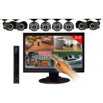 Lorex H.264 8-Channel Edge+ DVR System with 500GB HDD, Touchscreen Monitor and 8 Color Night Vision Cameras