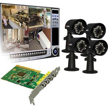 Lorex H.264 Digital Video Surveillance System with 4 Color Night Vision Cameras