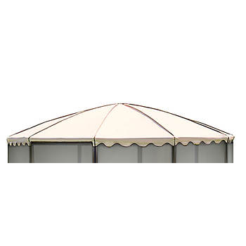 "Replacement Roof for Casita 12'3"" Round Screenhouse, Model 03165 - Almond"