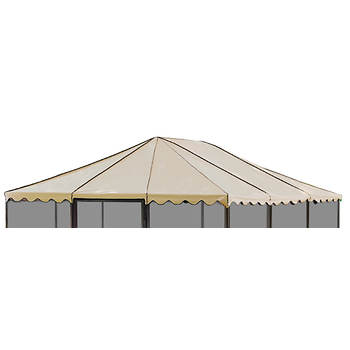 "Replacement Roof for Casita 11'7"" x 11'7"" Square Screenhouse, Model 21165 - Almond"