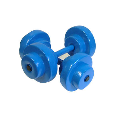 Super Soft Fitness Gear Bar Bells - Blue by Texas Rec