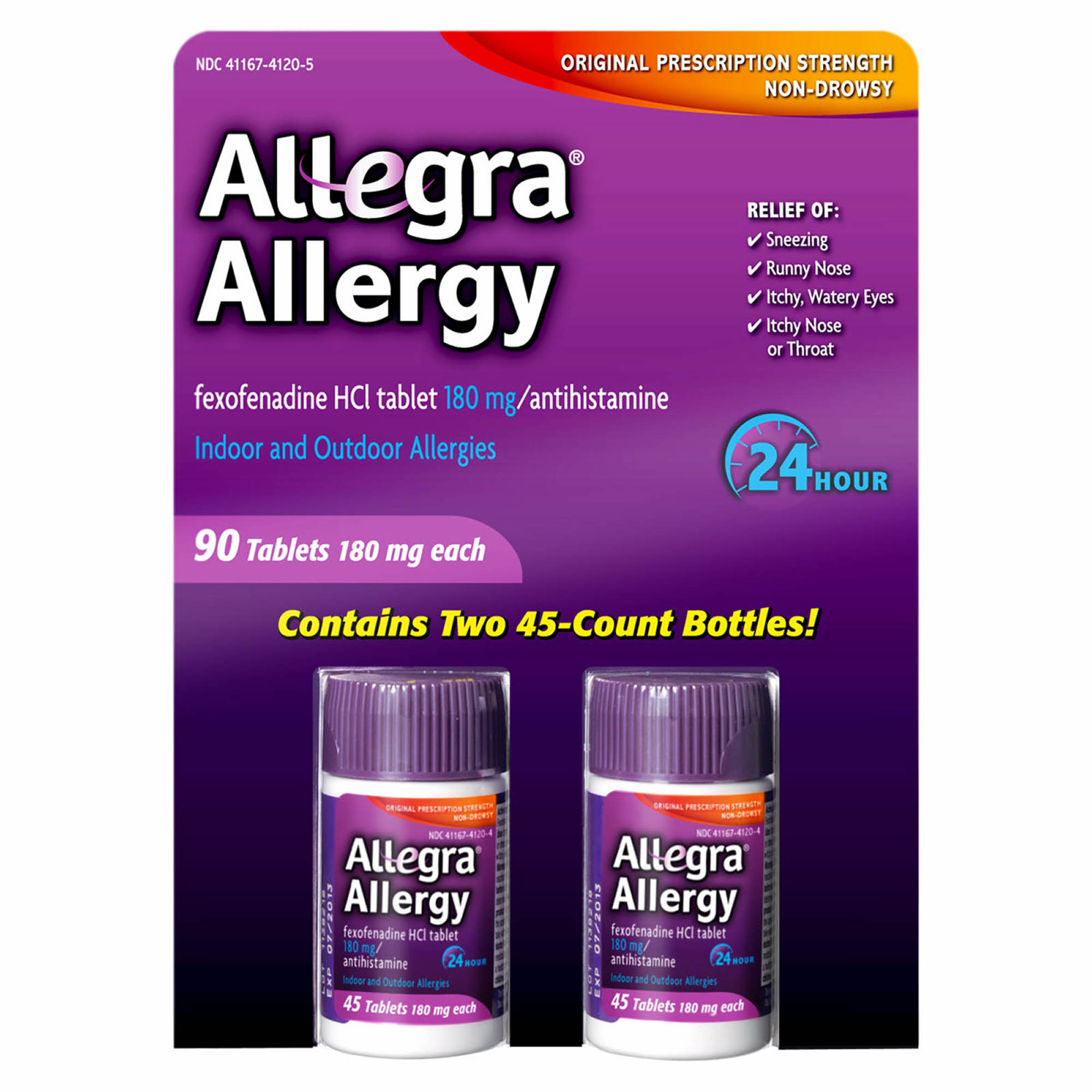 Fexofenadine hcl 180 mg 24 hour.doc - Allegra 180mg Adult 24 Hour Allergy Tablets 90 Ct