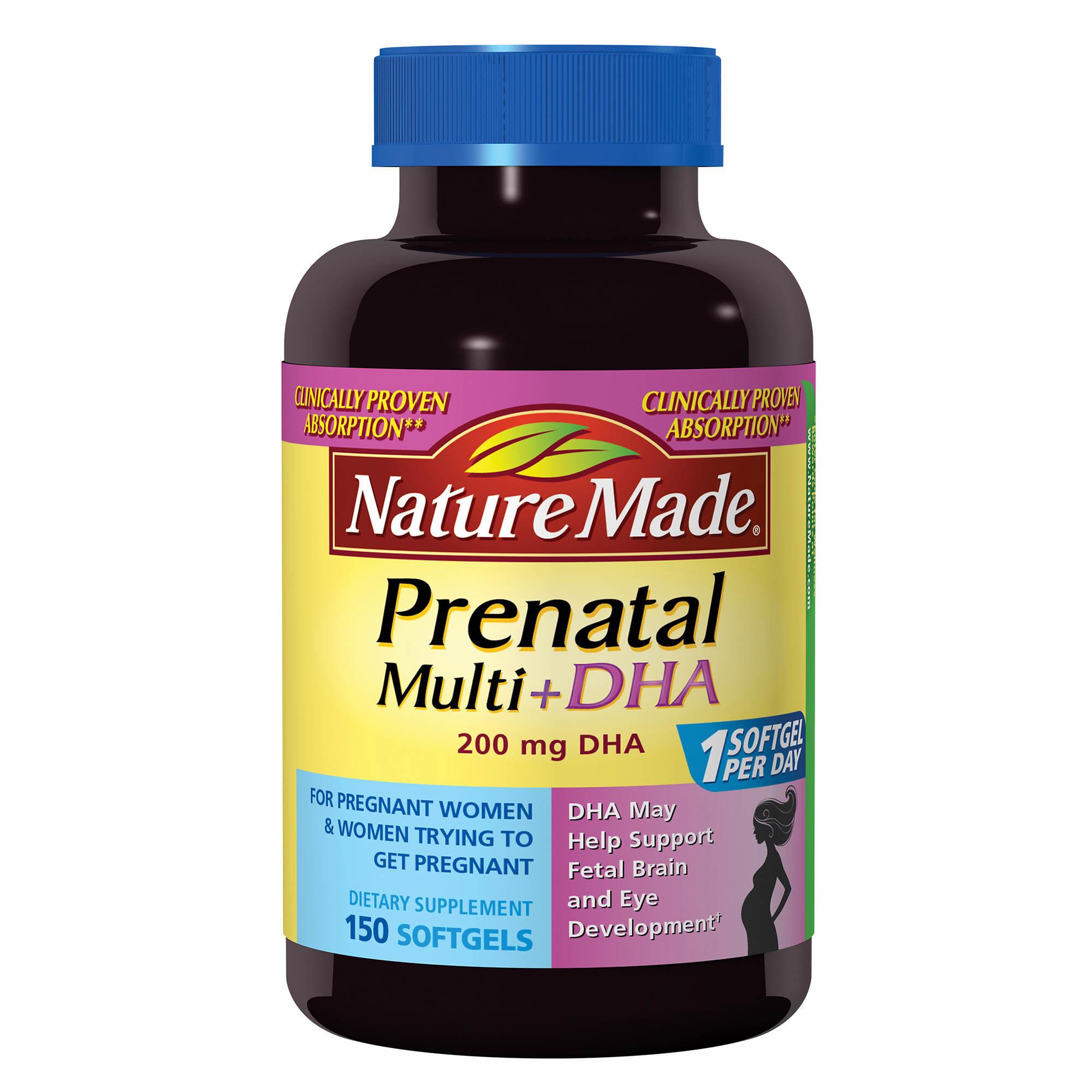 Liquid prenatal vitamins with dha