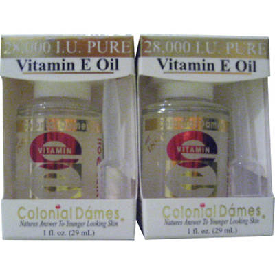 Colonial Dames Vitamin E Oil, 1 Oz., 2-Pk