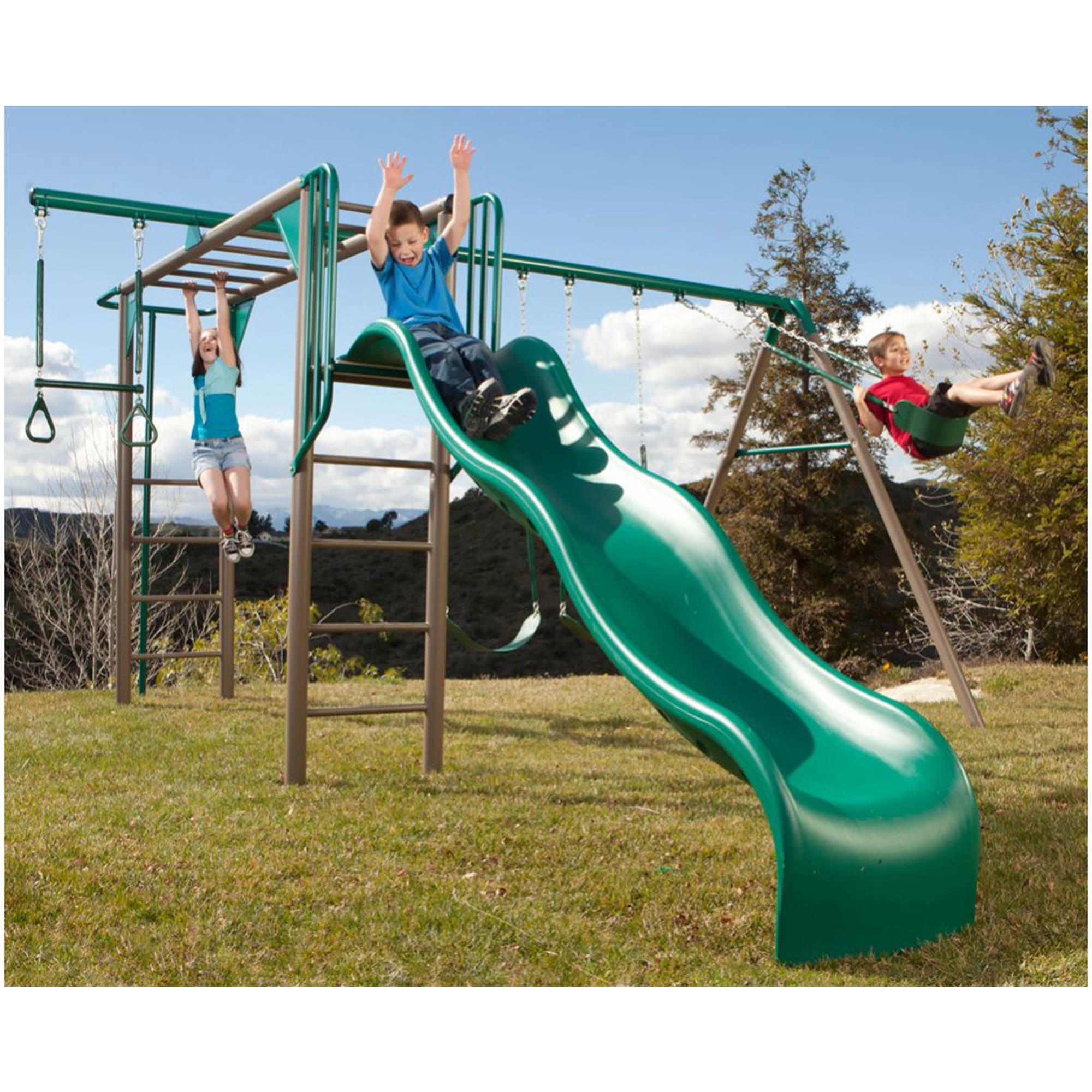 Heavy Duty Playground : Lifetime monkey bars adventure heavy duty metal swing set