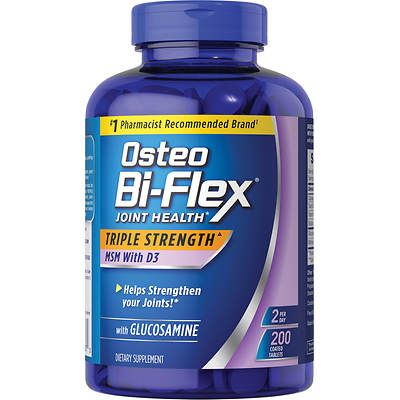 Osteo Bi-Flex 1,500mg Glucosamine with MSM and Vitamin D3 Dietary Supplement - 200 Count