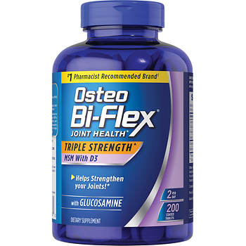 Osteo Bi-Flex 1,500mg Glucosamine with MSM and Vitamin D3 Dietary Supplement - 200 ct.