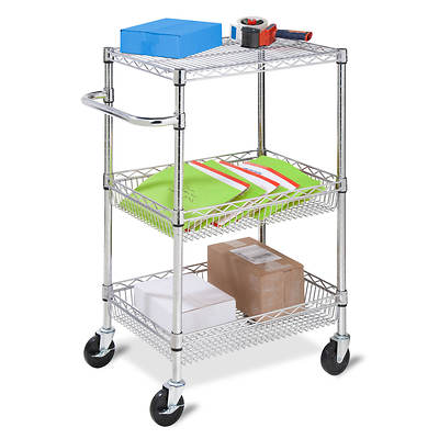 Honey-Can-Do 3-Tier HD Urban Rolling Cart - Chrome