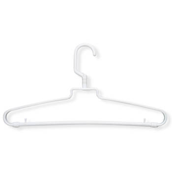 Honey-Can-Do Hotel-Style Plastic Hangers, 72 pk. - White