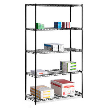 Honey-Can-Do 5-Tier 800-lb. Storage Shelves - Black