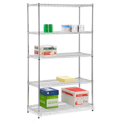 Honey-Can-Do 5-Tier 800-lb. Storage Shelves - Chrome