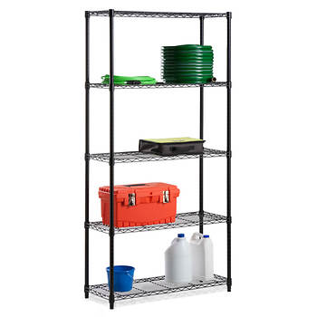 Honey-Can-Do 5-Tier 200-lb. Storage Shelves - Black