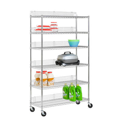 Honey-Can-Do 6-Tier Urban Shelving Unit - Chrome