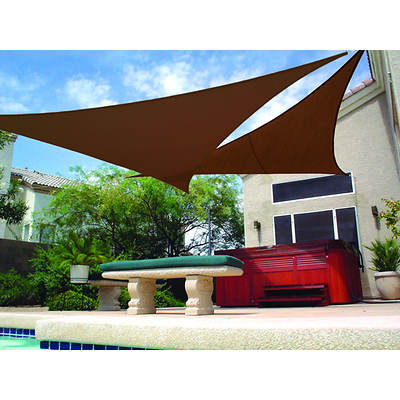 "Coolaroo 11' x 10"" Ready-to-Hang Shade Sail - Mocha"