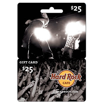 $25 Hard Rock Cafe Gift Card