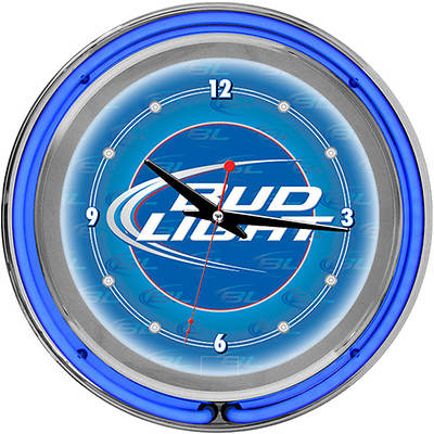 "Bud Light 14"" Neon Clock"