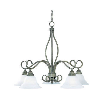 Savoy House San Marcos 5-Light Chandelier - Texas Bat Silver