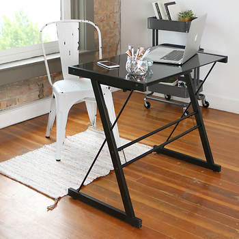 W. Trends Solo Desk - Black/Black