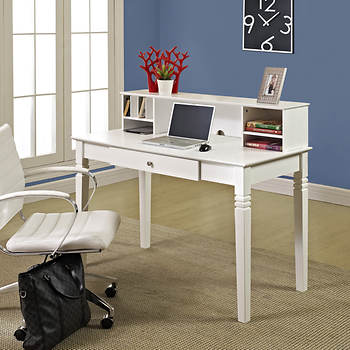 W. Trends Elegant Desk with Hutch - White