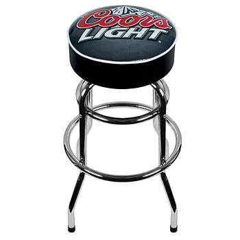 "Coors Light 30"" Barstool with White Trim"
