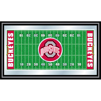The Ohio State University Football Field Framed Mirror