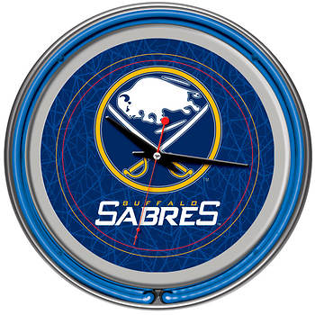 "Buffalo Sabres 14"" 2-Ring Neon Clock"