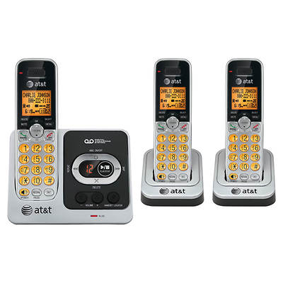 AT&T DECT 6.0 Digital 3-Handset Cordless Telephone with CID/ITAD (EL52351)