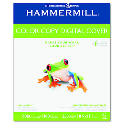 Hammermill Color Copy Digital 60-lb. Cover Stock, Letter, 250 Sheets - Photo White