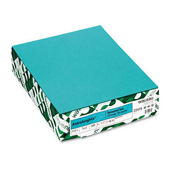 Astrobrights 24-lb. Colored Paper, Letter, 500 Sheets - Terrestrial Teal