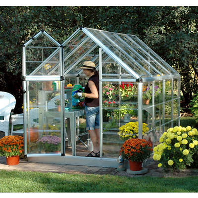 Palram Snap & Grow 6' x 8' Hobby Greenhouse - Silver