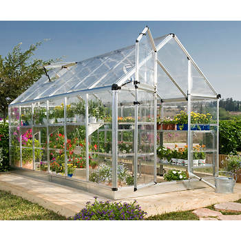 Palram Snap & Grow 6' x 12' Hobby Greenhouse - Silver