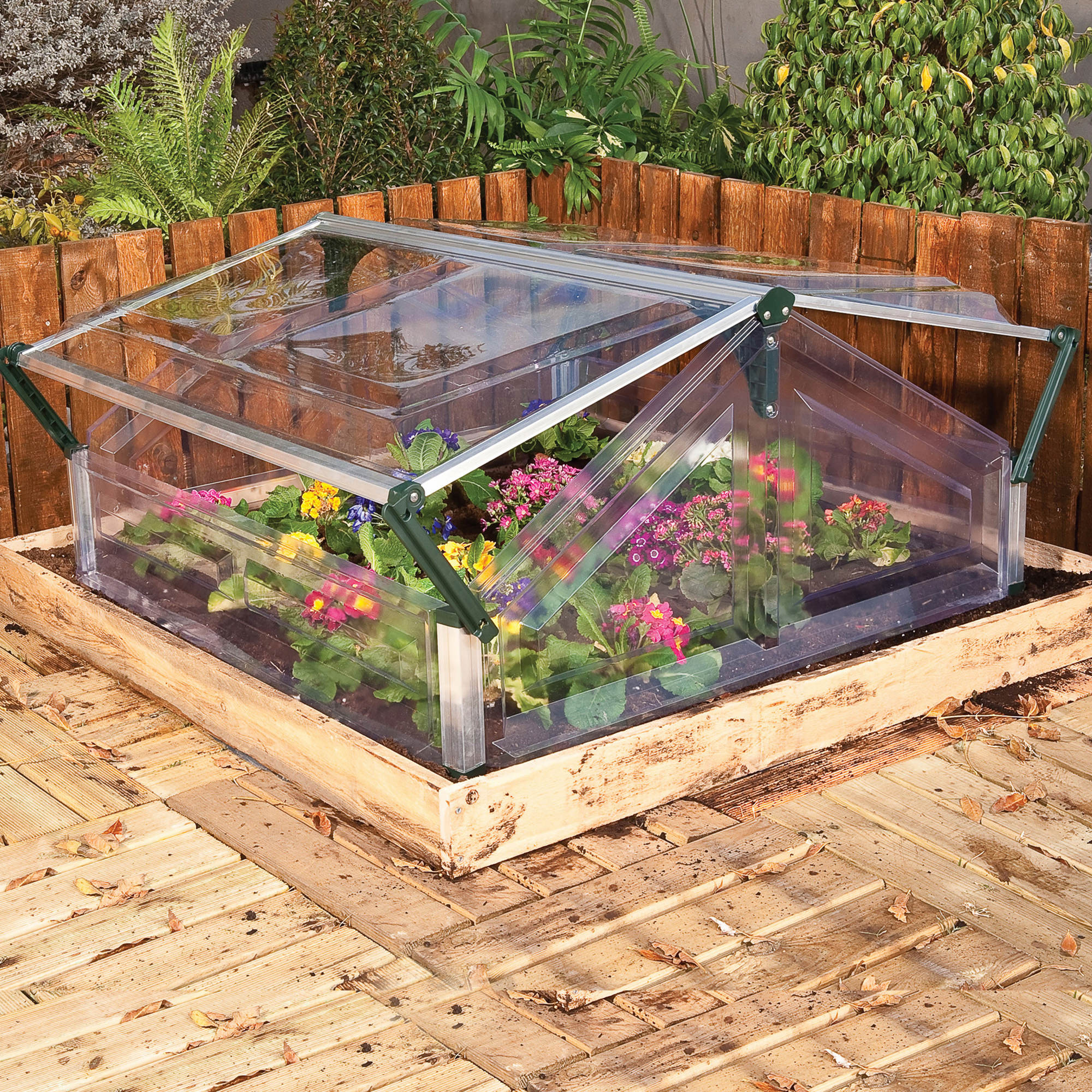 palram double cold frame greenhouse