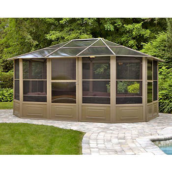 Four Seasons 12' x 15' Screenhouse - Sand/Smoke