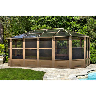 Four Seasons 12' x 18' Screenhouse - Sand/Smoke