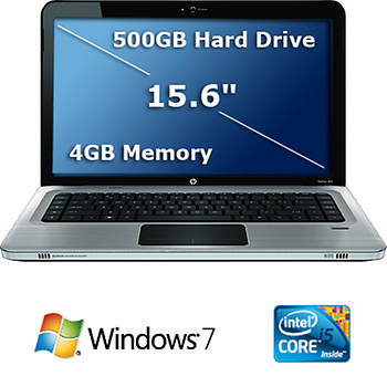 "HP Pavilion Entertainment 15.6"" Laptop PC with Intel Core i5-460M Processor, 4GB DDR3, 500GB HDD"