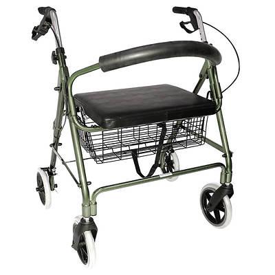 Duro-Med Lightweight Extra-Wide Aluminum Rollator - Titanium