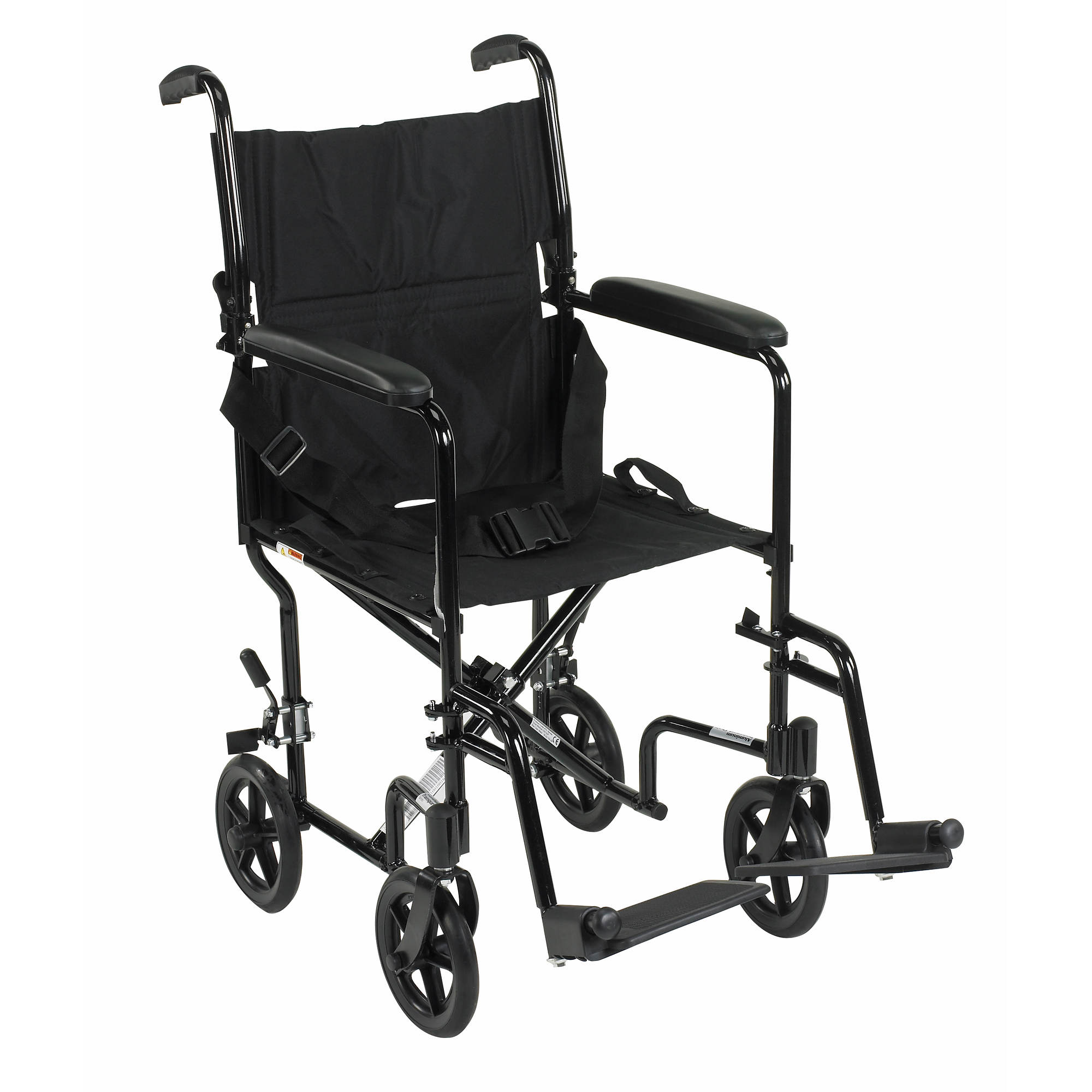 Drive Medical Deluxe Lightweight 19 Transport Wheelchair Black – Drive Fly Lite Transport Chair