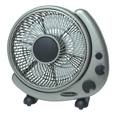 "Soleus Air 10"" Table or Wall Mount High-Velocity Oscillating Fan"