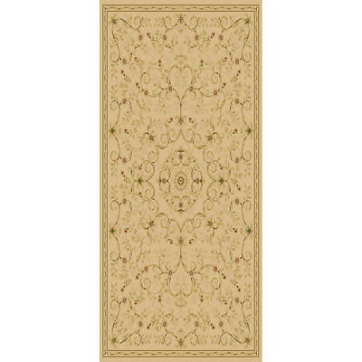 Hampton Leyla 5' x 7'6 Traditional Transitional Floral Rug - Ivory