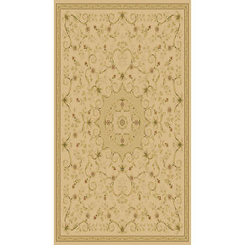 Hampton Leyla 7'10 x 9'10 Traditional Transitional Floral Rug - Ivory