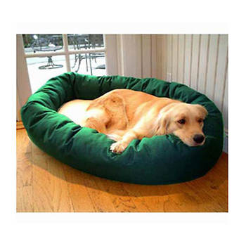 Majestic Pet Products Large 40 Bagel Bed with Fleece Center - Green