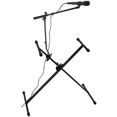 Spectrum Keyboard Stand with Bonus Microphone Stand