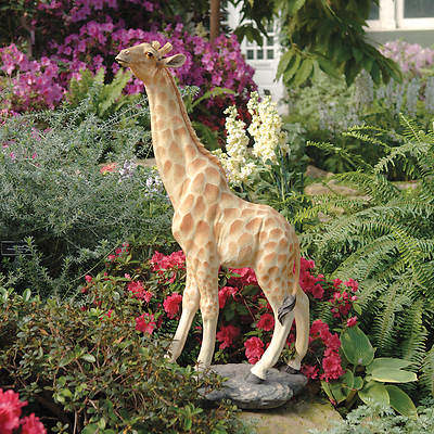 "35 1/2"" Resin Gerard the Giraffe Garden Statue"