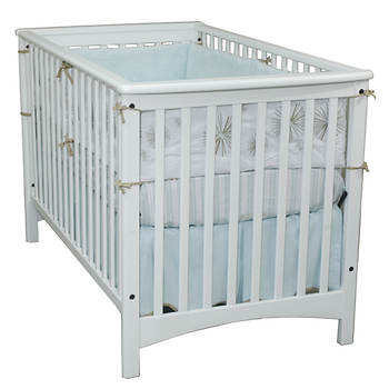 Child Craft London Stationary Crib and Mattress Set - White/White