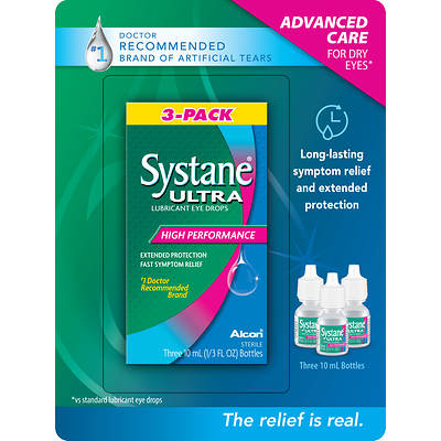 Systane Ultra .10ml Lubrication Eye Drops, 3-Pk