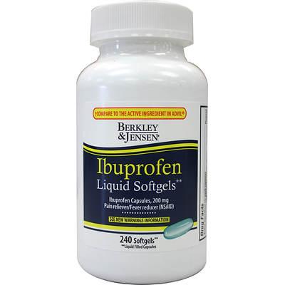 Berkley & Jensen 200mg Ibuprofen Liquid Softgels, 240 Count
